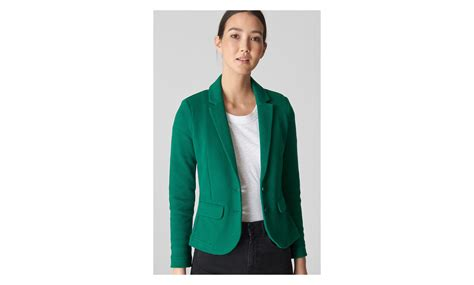 Jacket Whistle green slim jersey jacket whistles