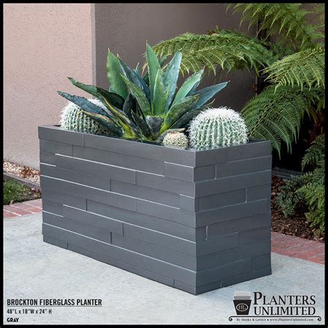 Commercial Outdoor Planters by Outdoor Planter Boxes Modern Fiberglass Planters