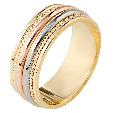 110341e tri color gold comfort fit wedding band