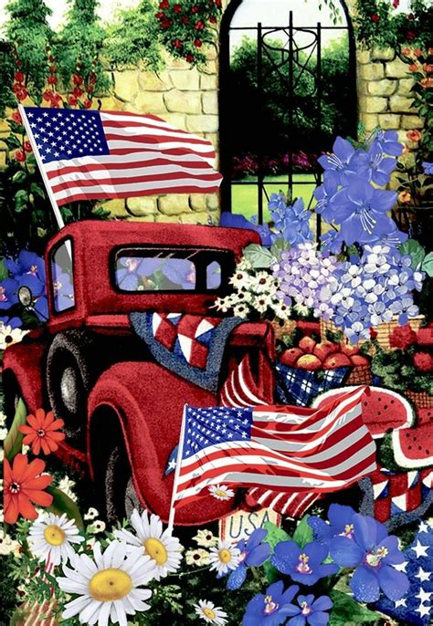 morigins patriotic welcome truck flower apple harvest