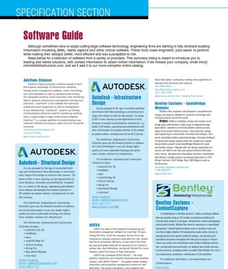 specification sections specification section software guide 2017 informed