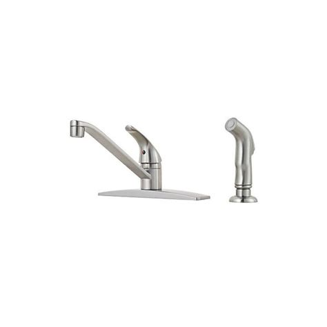 low arc kitchen faucet shop pfister pfirst stainless steel 1 handle low arc