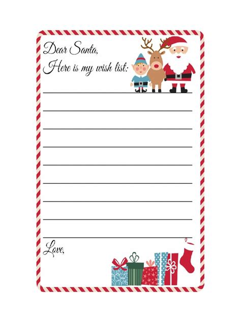 Cute Christmas Wish List Template Free Printable World Of Exle Wish List Template Microsoft Word