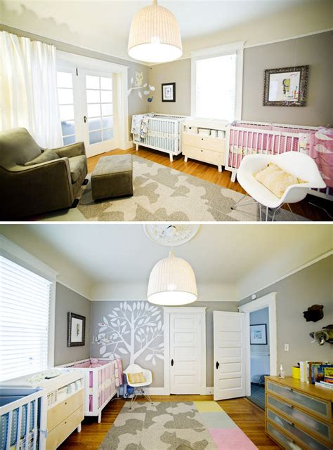deco chambre jumeaux fille gar輟n d 233 co de chambre pour jumeaux