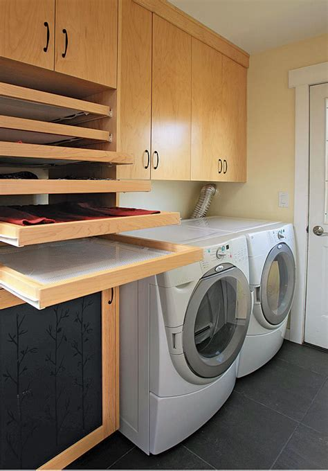 Pull Out Clothes Drying Rack by Laundry Room Trifecta Her Storage Area And Drying