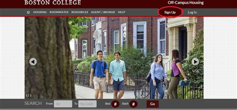 boston college housing boston college debuts new off cus housing website bang