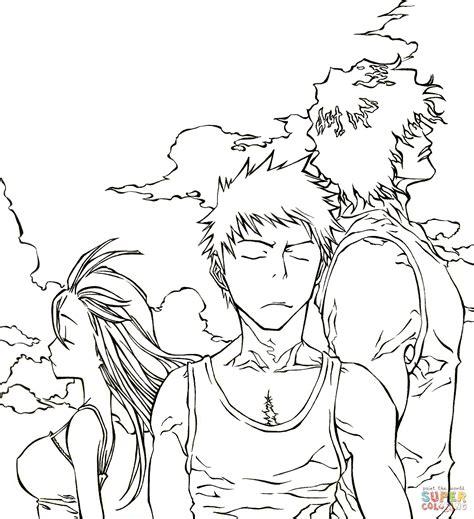 Dibujo de Trío de Manga/Anime Bleach para colorear