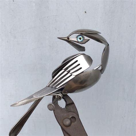 And Bird Sculptures by Artist Turns Scrap Metal Into Magnificent Bird