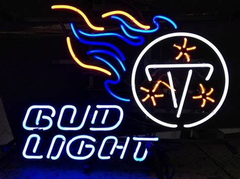 bud light nfl neon sign nfl tennessee titans bud light neon light sign 16 quot x 14
