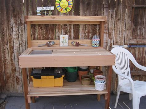how to make potting bench ideas how to build a potting table potting stands