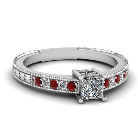 shop for vintage ruby engagement rings fascinating diamonds