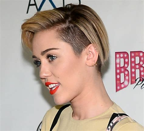 picturs of miley cyrus pink haircut front back and sides pictures 10 best celebrity undercut hairstyles miley