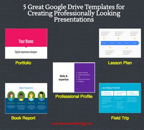 google slides templates for teachers 5 great google drive templates for creating professionally