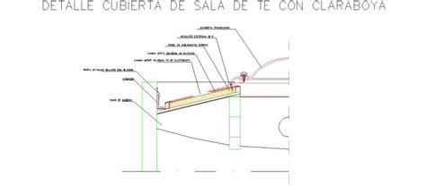 detalle claraboya bloques autocad gratis de aislamiento de cubierta con