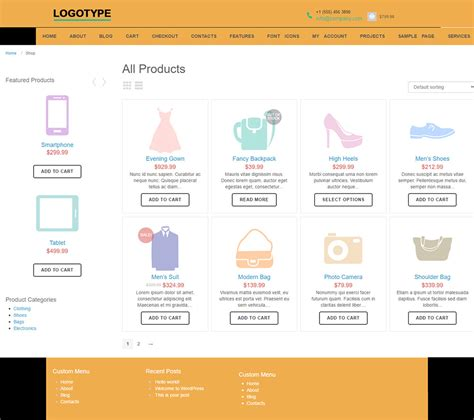 Woocommerce Template Tutorial by Moto Store Free Woocommerce Template