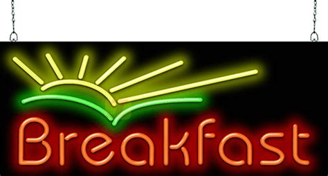 breakfast  sunrise neon sign fgz   jantec neon