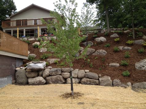 landscaping a hill hillside backyard landscaping house design with rocks