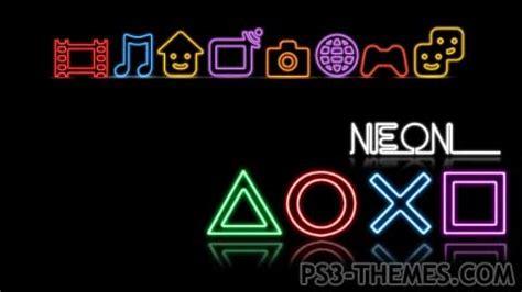 theme psp neon ps3 themes 187 neon