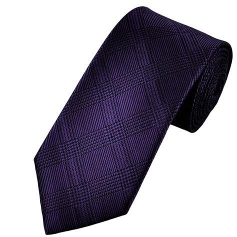 purple black checked silk tie from ties planet uk