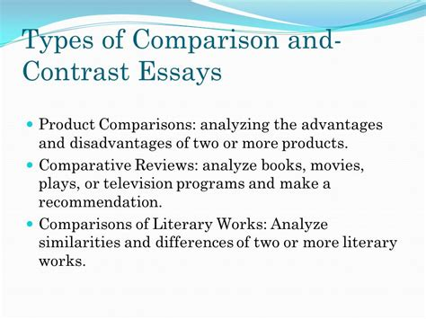 Types Of Literary Essays by Chapter 8 Exposition Comparing And Contrasting Ppt