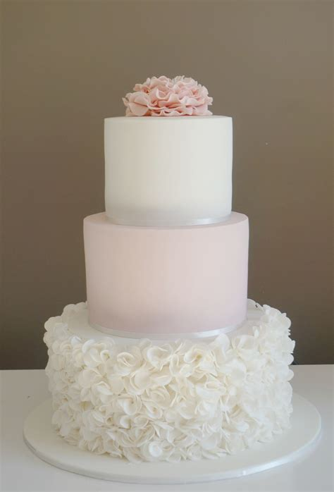 Pink And White Wedding Cake Pretty 3 Tier Cake With