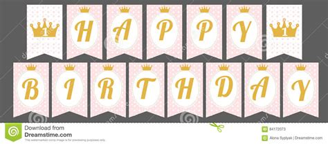 Happy Birthday Letters To Print Printable 360 Degree Happy Birthday Banner Template