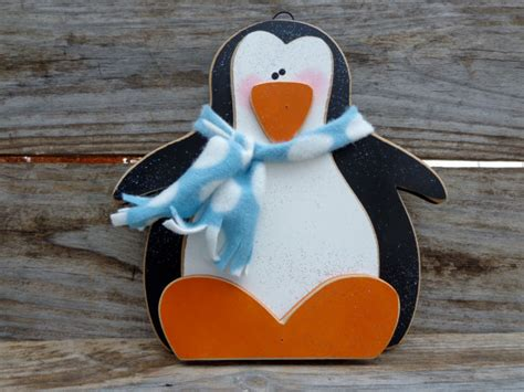 penguin home decor winter decor snow decor penguin decor christmas decor