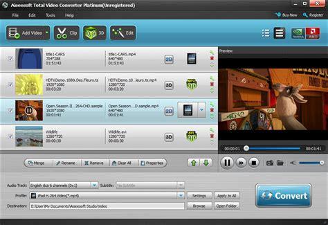 Total Video Converter Aiseesoft   aiseesoft total video converter convert wmv to avi mkv to