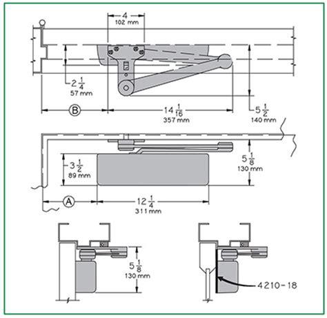 door closer diagram penner doors lcn 4210 series