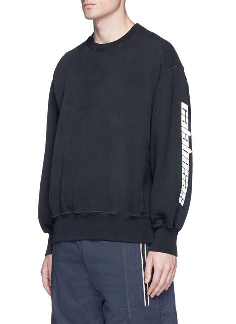 Print Sweatshirt yeezy calabasas print sweatshirt modesens