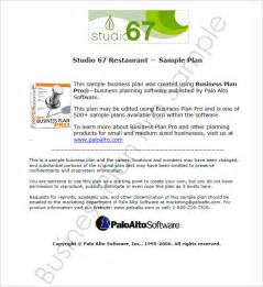 restaurant business plan template pdf restaurant business plan template 7 free pdf word