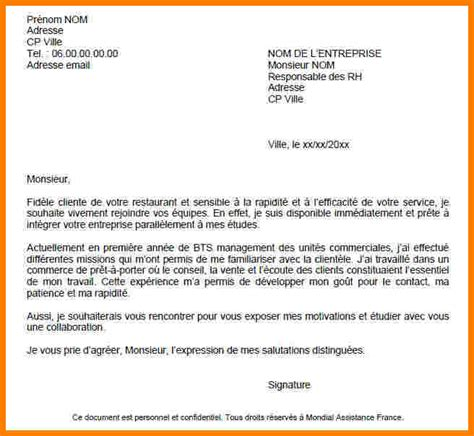 Lettre De Motivation Pour Vendeuse Chez Orange 9 Lettre De Motivation 233 Tudiant Lettre Officielle