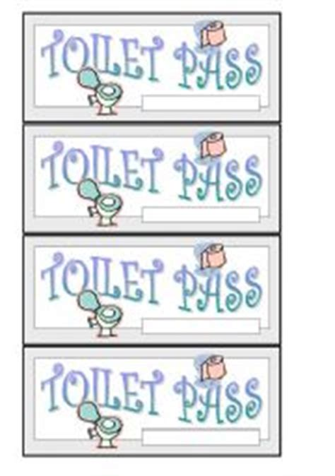 printable bathroom passes english worksheet toilet pass