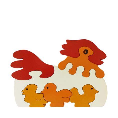 Puzzle Animal chicken wooden animal puzzle jigzoos australia jigzoos