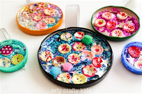 baubles craft jar lid baubles easy craft for arty