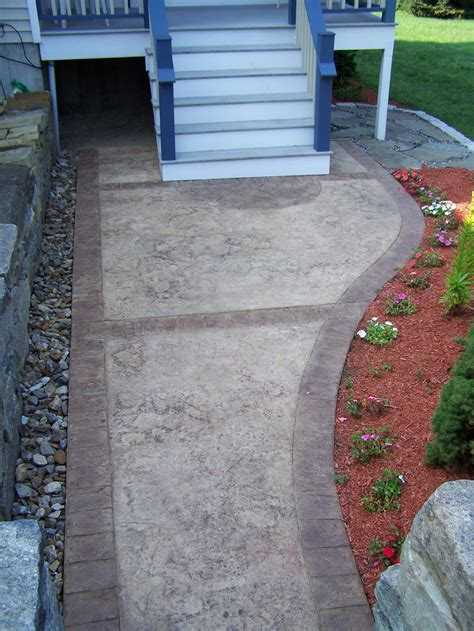 Decorative Concrete Walkways by Gs Flatwork Llc Decorative Sted Concrete Walkways