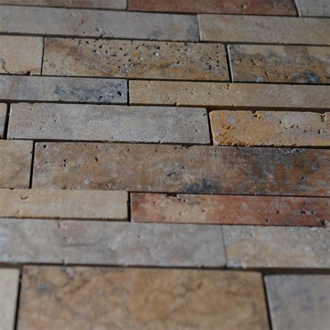 scabos travertine random pattern mosaic tile