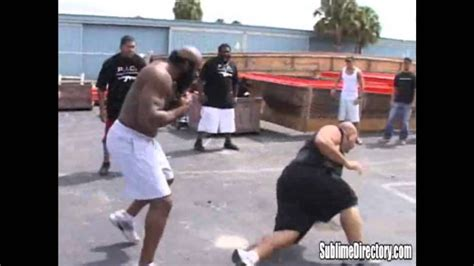kimbo slice backyard brawl kimbo backyard fights the best of kimbo slice bloodying