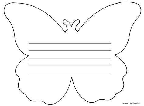 Butterfly Writing Paper Template writing paper butterfly s day