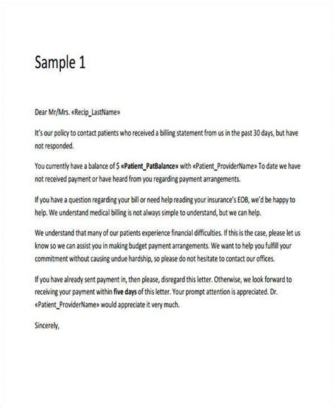 collection letter templates google docs ms word