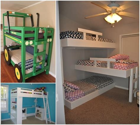 diy kids bed 10 cool diy bunk bed designs for kids