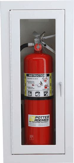 potter roemer extinguisher cabinet potter roemer alta series fully recessed extinguisher
