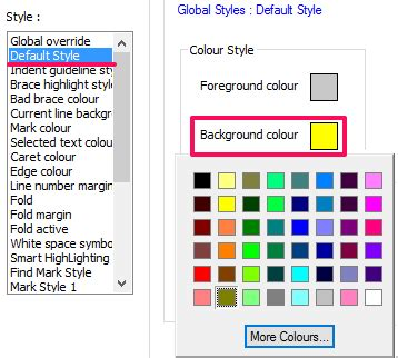color notepad how to change background color of notepad