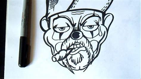 imagenes de amor hip hop para dibujar c 243 mo dibujar un payaso con cigarro valvedesignz art by