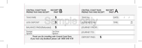 pre paid rent receipt template taxi receipt template for free formtemplate