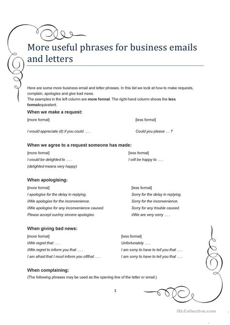 Business Letter Writing Useful Phrases business letter useful key phrases 28 images 28 key