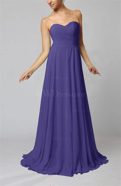 Simple Evening Dress Mt 160 royal purple simple sheath sweetheart zip up sweep ruching wedding guest dresses uwdress