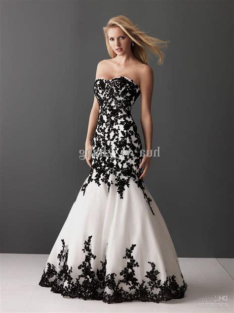 White And Black Dress black lace mermaid wedding dresses naf dresses