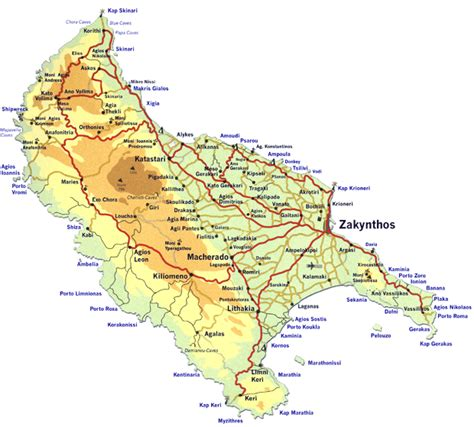printable map of zante zakynthos maps
