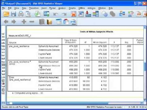 design effect in spss two way repeated measures anova in spss doovi